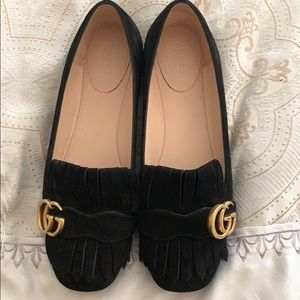 Gucci suede authentic flat shoes
